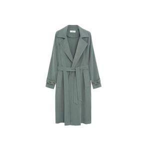 MANGO Přechodný kabát  zelená