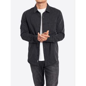 HOLLISTER Společenská košile 'LS DENIM'  černá džínovina