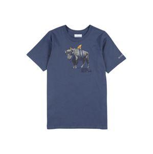 COLUMBIA Funkční tričko 'Peak Point™'  modrá / antracitová / žlutá